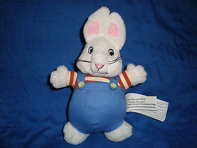 "Max & Ruby Cartoon Small Plush Bunny W/Plastic whiskers MAX 7"" Tall"