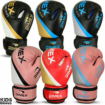 Kids Boxing Gloves Punch Bag Sparring MMA Training Mitts Size 4oz - 8oz