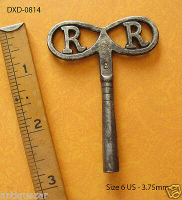 Rare RR Dragon Fly Shaped Antique Old Skeleton Key Cuckoo Clock Vintage Winder