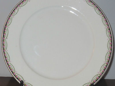 KPM China Plate - Germany Scalloped White & Rose Garland - 5 Available (Rare)