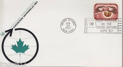 Onu New York 1967 - Exposition Universelle 1967 - Fdc Annullo Speciale