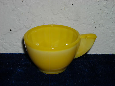 Akro Agate Small Interior Panel Cup  Opaque Yellow