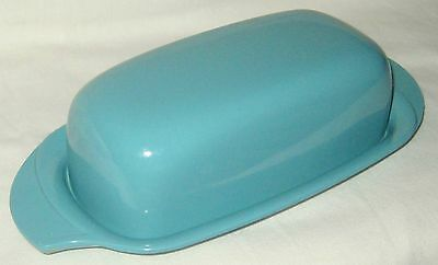 Vintage Turquoise Boonton Melmac Winged BUTTER DISH 520-1