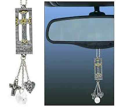 """""""Start Your Day with Faith"""" Car Charm Rear View Mirror Charm, Great Gift !!!!"""