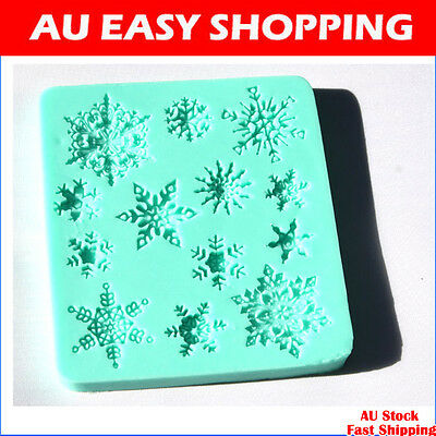 snowflakes snow silicone fondant cake molds soap chocolate mould