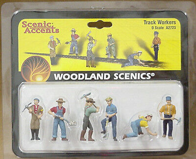 O scale TRACK WORKERS Woodland Scenics Train People # 2723
