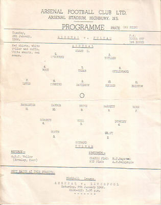 Arsenal v.  Fulham 4/1/1966 Youth Cup plus newspaper report