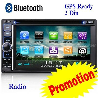 "2 Din AU Stock Double Car DVD CD GPS USB SD Stereo 3G GPS Radio SWC BT 6.2""890AD"