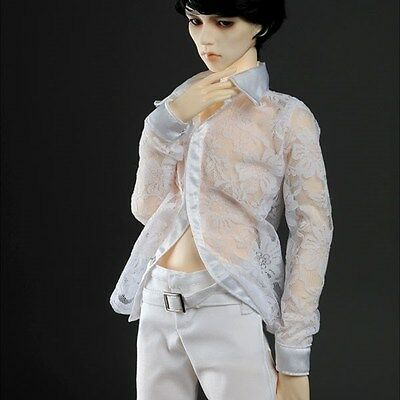 """Dollmore  1/3 BJD 22"""" doll clothes  SIZE  SD - OMG Blouse For Man (White)"""