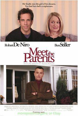 MEET THE PARENTS MOVIE POSTER Original DS 27x40 ROBERT DE NIRO BEN STILLER 2000