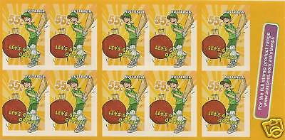 Australia 2009 Let's Get Active Cricket Booklet Mnh