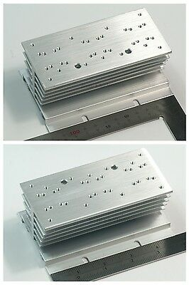 60x120x50mm Aluminum Alloy Heat Sink for 1W/3W/5W/10W/20W LED Silver White