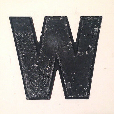"""Letter W Vintage Wagner Theater Movie Marquee Sign Letter Metal 8"""""""
