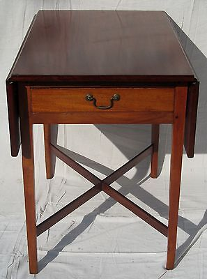 18Th C New England Chippendale Mahogany Antique Drop Leaf Pembroke Table