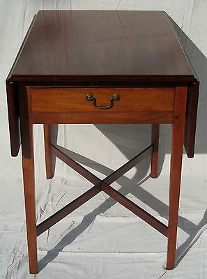 Fine 18Th Century New England Chippendale Mahogany Pembroke Table W/ X Stretcher