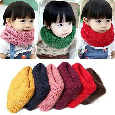 New Baby Boys Girls Kids Toddler Winter Warm Scarf Neck Warmer Christmas Gifts