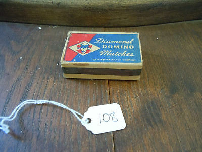 Vintage Matchbox Domino Diamond Matches with contents!