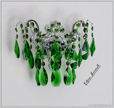 Crystal Wall Lamp Colored Real Crystal Available in Green, Red or Lilacs