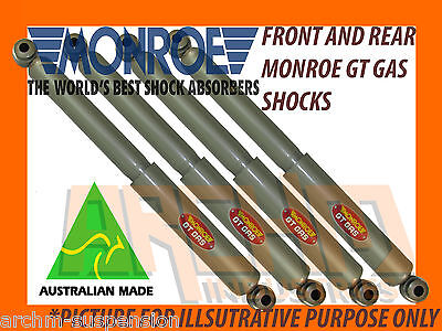 Holden Rodeo Tfr 2Wd Front & Rear Monroe Gt Gas Shock Absorbers