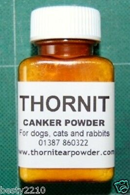 THE ORIGINAL THORNIT POWDER for ITCHY or SORE EARS  20g   CANKER POWDER