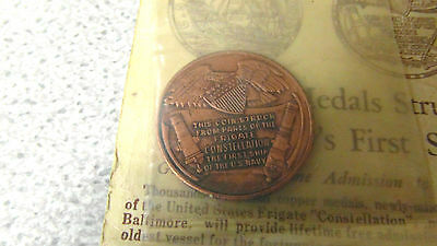 U.S Frigate Constellation Medal/Coin - Struck from First Ship