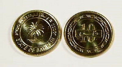 Bahrain 2000 10 Fils Uncirculated (KM17)