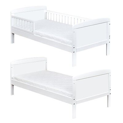 Kinderbett Juniorbett Massivholz in Weiss 140x70cm NEU