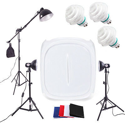 Photography Studio Lighting 90cm 3 Light Tent Kit - Cube Photo Soft Box Product