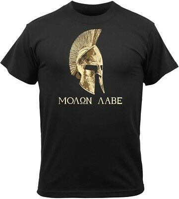 cd8b968af18 BLACK MOLON LABE Spartan Helmet Warrior T-Shirt -  13.99