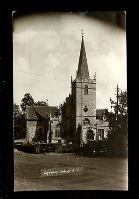 Wilts Wiltshire LACOCK Church early RP PPC