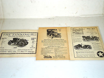 1903-1910-1911 Automobile Advertisement Photo and News