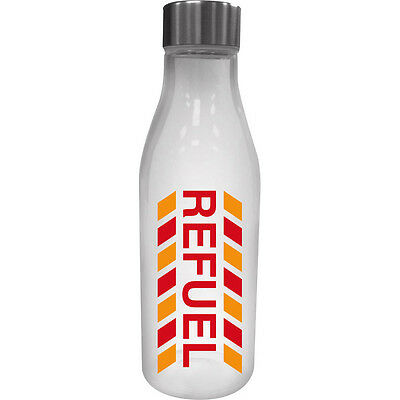 Refuel Glass Water Bottle With Metal Lid