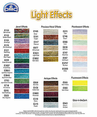 DMC Light Effects Embroidery Thread - various colours