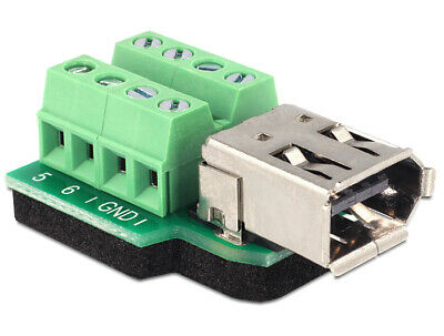 Delock Adapter FireWire A 6pin female > Terminal block 8pin connect single wires