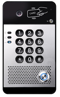 Sip Voip Door Entry System With Single Button Keypad And Fob Reader