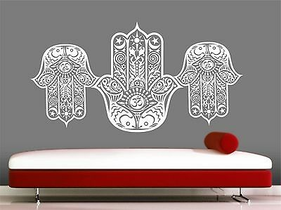 Hamsa Hand wall decal- Eye -Indian -Buddha -Yoga- Fatima, Mandala ,Ganesh ,Lotus
