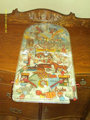 RARE VINTAGE  UNIQUE STATE  FAIR TOY TABLE TOP  PINBALL  MACHINE