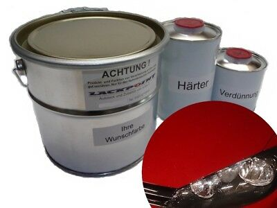 2 Liter Set 2K Car paint VW LY3D Tornadorot Tuning Red Acrylic Lacque+Dilution