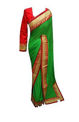 Indian Exlusive sarees bollywood border PARTY WEAR wedding sari London 7100 UK