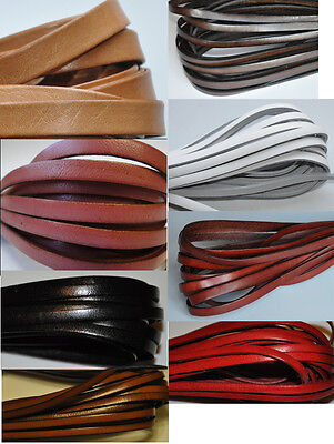 100% Real Premium Flat Leather Cord - 5MM or 10MM*2MM String Lace Thong