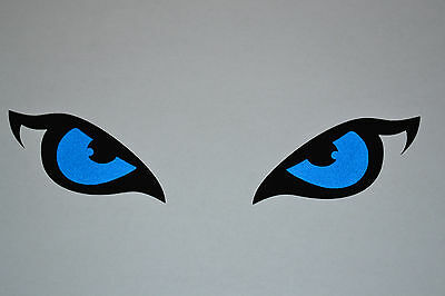 Reflective Blue Siberian Husky Eyes Sticker Decal Sled Dogs Huskies Dog Wolf