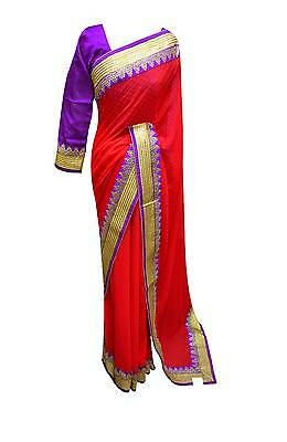 Latest contrast border sarees Bollywood Party wear WEDDING sari London 7106 UK