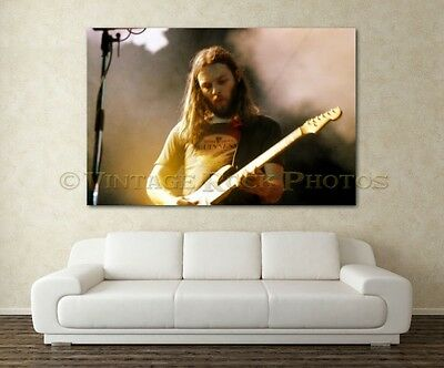 David Gilmour Pink Floyd 20X30 in Fine Art Gallery Canvas Print Framed Gilcee