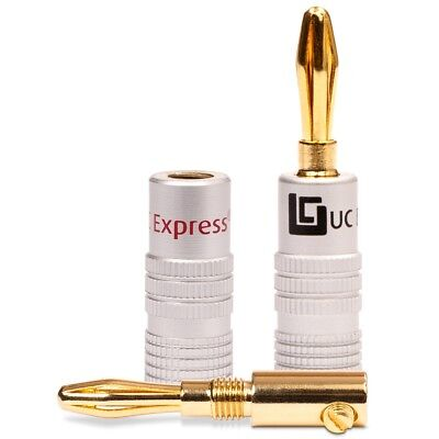 UC-Express Bananenstecker Bananas High End für Kabel bis 6mm² 24K vergoldet