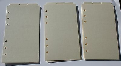 9 Shimmery Cream  Filofax Personal size  dividers monthly subject top tab