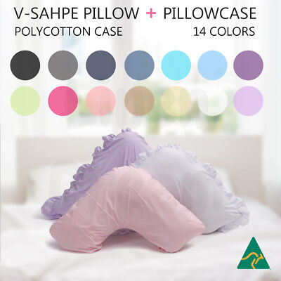 Aus Made V Shape / Tri / Boomerang Pillow + Pillowcase Multifuction Support
