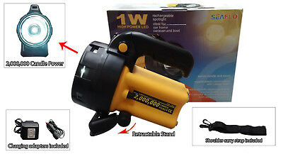 2 MILLION CANDLE POWER HAND HELD RECHARGEABLE SPOT LIGHT LAMP boat work home