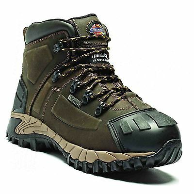 New Dickies Medway Brown Waterproof Safety Workboots Shoes Hiker Steel Toe Cap
