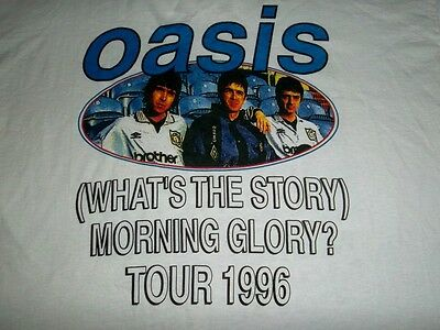 Vintage Oasis 1996 What The Story Morning Glory Maine Road Tour Concert T-Shirt