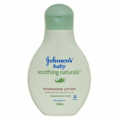 2 x JOHNSON'S BABY SOOTHING NATURALS NOURISHING LOTION (250ml)